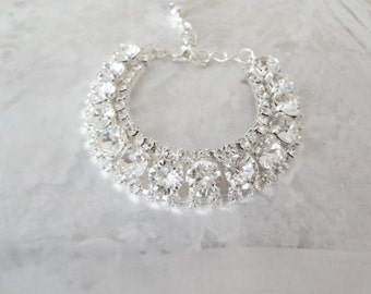 Swarovski crystal bracelet, Crystal wedding bracelet. Crystal statement bracelet, Brides crystal bracelet, Bridal bracelet STUNNING, SOPHIA