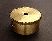 Large Brass Cylinder Gear, Mainspring Barrel from Vintage Clock Movement, Vintage Clockwork Mechanism Parts, Steampunk Art Supplies 03891