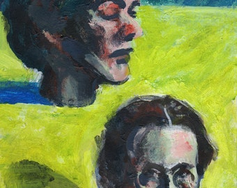 "Original Painting - ""Heads of Women"" by Peter Mack"
