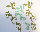 6 Romantic Vines, Cardstock, Light Green, Darker Green, Cards, Scrapbooking, Sizzix, Handmade