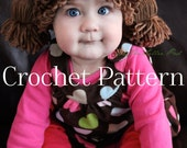 Cabbage Patch Kid Inspired Hat Crochet PATTERN - For All Sizes Baby, Toddler, Child, & Adult - Crochet Tutorial - Beanie Hat - Wig - Costume