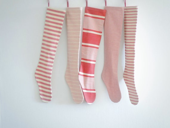 Christmas Stocking Personalized, Modern Scandinavian Red Striped Personalized Christmas Stocking, Family Holiday Stockings, Long, Decoration