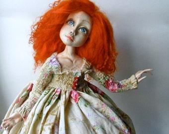 Benedicta  Art doll OOAK   Paperclay doll   Handmade doll   Home decor  Collecting doll  OOAK art dolls