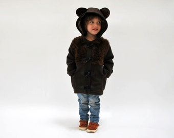 Bear coat JANUARY 2018 - pre order kids children animal duffle brown bear luxury kid winter jacket baby toddler woodland three