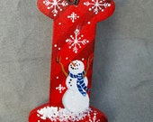 """Initial """"I"""" Ornament/Gift Tag/Party Favor -- OL26"""