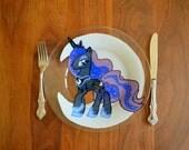 Princess Luna glass plate
