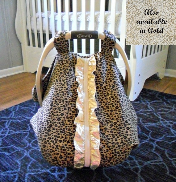 Cool 100 cotton baby car seat canopy cover couture ruffle for Canopy couture