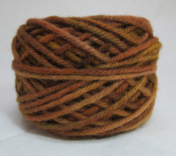 ACORN, 100% Wool, 2 Ozs. 43 yards, 4-Ply, Bulky weight and 3-ply Worsted weight yarn, already wound into cakes, ready to use, made to order