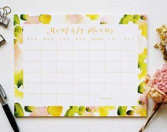 Abstract Monthly Calendar, Desk Pad, Desk Calendar, Agenda