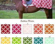 MADE TO ORDER Lattice Print Quarter Sheet Many Colors