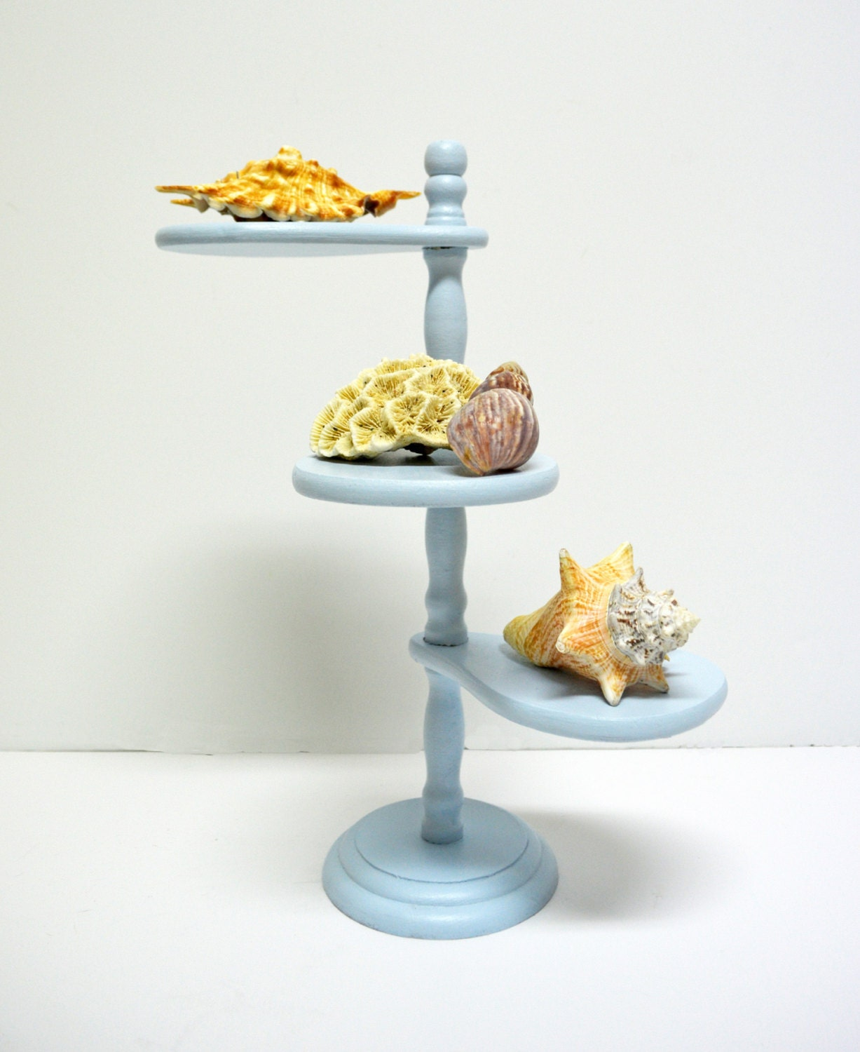 Small Exhibition Stand Lighting : Plant display stand in light blue small vintage wooden