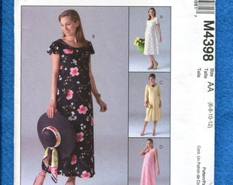 McCalls 4398 Spring or Summer Maternity Dresses  Size 6  8  10 12 UNCUT