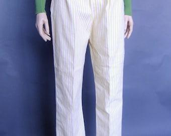 Mod Pants, Off White Pants, Vintage Trousers, Deadstock Pants, Pin Stripe Pants, 60's clothing