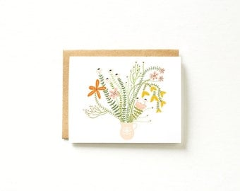 Floral Card, Stationary, Blank Cards, Just Because Card, Card for Friend, Card for Wife, Pretty Cards, Blank Card Set, Thank You Cards Set