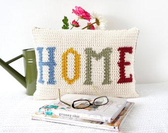 Vintage Crochet, Cushion Pattern, Living Room Pillow, Home Decor, Country Cottage, Homely Decor, House Warming, New Home Gift, Fall Pillow