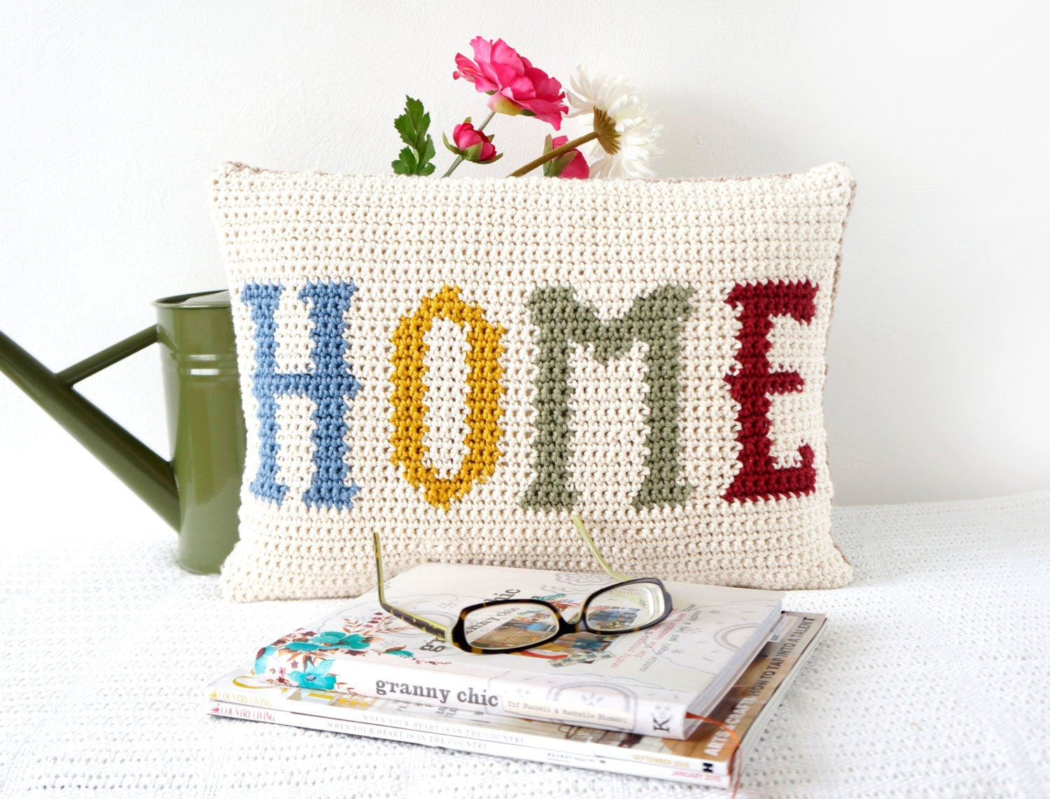 Home cushion crochet pattern easy to make pillow modern for Modern new home gifts