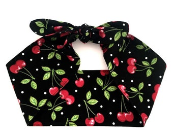 Cotton Handmade headband CHERRIES