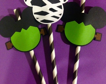 Halloween Mickey Mouse Inspired Straw Toppers