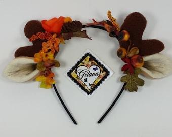 Fall Antler Headband-Lolita Headband-Mori Kei Headband-Lolita Accessories-Antler-Horn-Costume