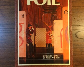 1968 3M Bookshelf Game Foil Challenging Game of Words and Wits Timed Word Scrabble Challenge