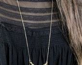 Gold Layered Chain and Bead Necklace