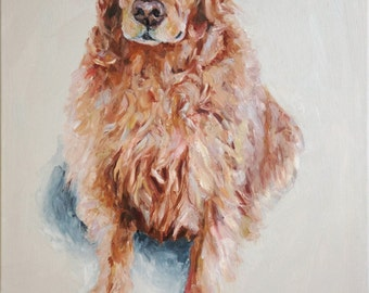 Personalized Pet Portrait Oil Painting XLarge commissioned Holiday gift 24x36