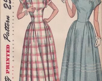 1940s Vintage Dress Pattern Simplicity 2406 Size 14