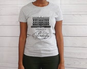 "New Jane Austen T shirt, ""I'd Rather Be At Pemberley"" Pride & Prejudice Literary Book Quote TShirt, Small to XL, Grey"