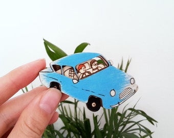 The Flying Ford Anglia Brooch