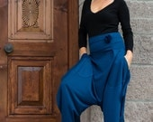 Items Similar To Wide Leg Harem Pants With Big Pockets On Etsy