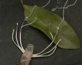 Lithium Quartz Diana Antler Necklace