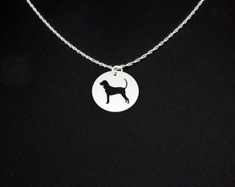 Black and Tan Coonhound Necklace - Black and Tan Coonhound Jewelry - Black and Tan Coonhound Gift