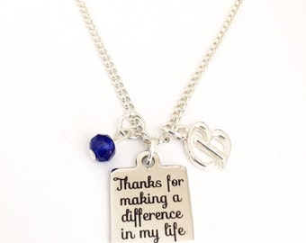 Personalized Thank-you Necklace