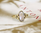 Reserved for G---1st Payment---Art Nouveau Moonstone Engagement Ring, Edwardian Engagement Ring, Antique Moonstone Ring