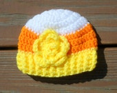 Halloween Hat, Candy Corn Hat, Halloween Crochet, Newborn Girl, Costume Hat, Halloween Props, Photo Props Girl, Baby Beanie, Toddler Girl