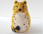 Cheetah - Needle Felted Sculpture