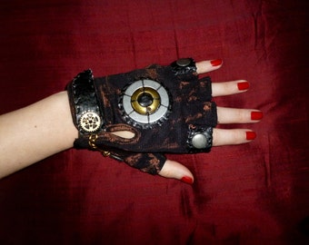 "Women's ""Industrial Steam"" Steampunk Moonhoar Monster Glove- Pirate, Burning Man, Medieval, Warrior, Apocalypse"