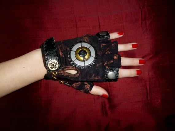 "Women's ""Industrial Steam"" Steampunk Moonhoar Monster Glove- Pirate, Burning Man, Medieval, Warrior, Apocalypse"