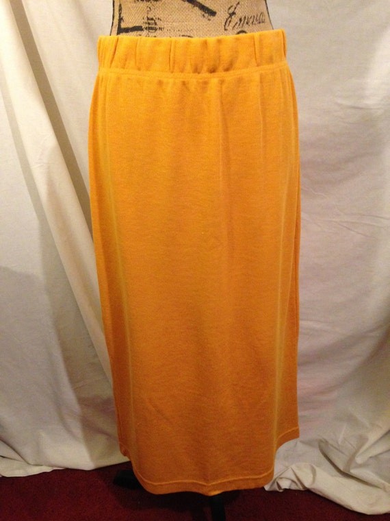 1980's Vintage Orange Skirt by Huntington Ridge Size XL B12