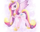 My Little Pony Art Princess Cadence Print Watercolor Painting MLP Girls Wall Decor Unicorn Pegasus Illustration - Sarah Alden