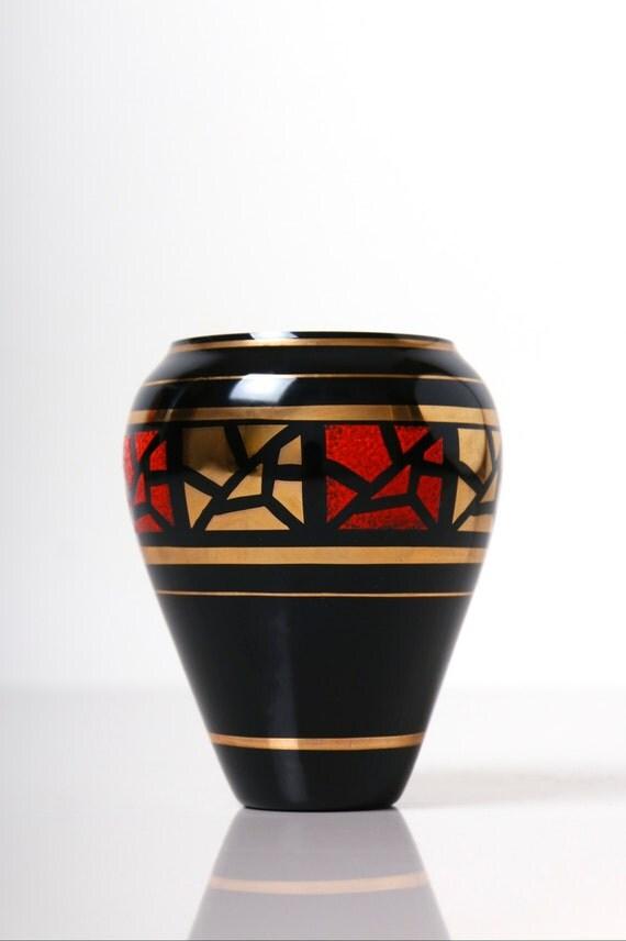 veb kunst glas wasungen vase east german art glass vase. Black Bedroom Furniture Sets. Home Design Ideas