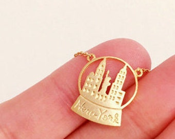 New York City Necklace, New York Necklace, NYC necklace, NYC Jewelry
