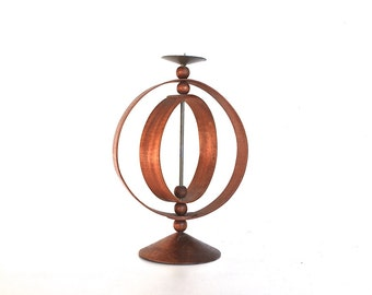 Bentwood Candle Holder | Vintage Home Decor | Rustic Modern