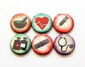 Pharmacy magnets,  Medical Magnets, Nurse Magnets, Button magnets, Fridge Magnet, Nurses week, Gift for nurse, Work Magnets (5469)