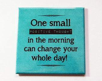Positive Thoughts magnet, Locker magnet, Magnet, Fridge magnet, Positive Thoughts, Teal, Refrigerator magnet, Be Positive (5370)