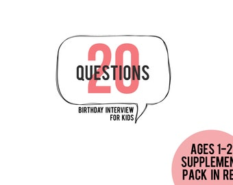 20 Questions Ages 1-2 Supplement Pack in RED
