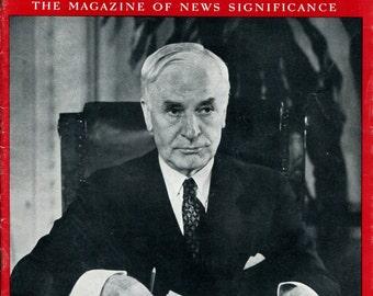 Newsweek August 7 1939 Judge Hull US American History Birthday Birth Date Gift Full Issue Red Black Vintage Magazine