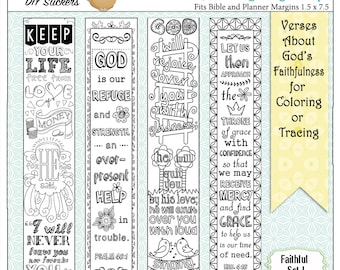 Save 50 24 Printable Coloring Bible Journaling Margin Strips Wide Bible Margins Or Planner