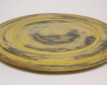 Primitive Plate, Painted Wood Plates, Country Decor