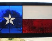 Texas Flag Panel in Repurposed Wooden Window Sash